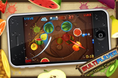 170910 fruit 1 410x273 App Store: Fruit Ninja diventa multiplayer con supporto al Game Center Game Center Fruit Ninja App Store Aggiornamenti
