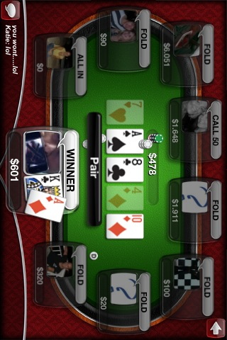 Live Poker: Texas Hold'em online per iPhone