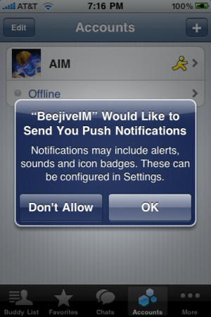 App Store: disponibile Beejive 3.0 con le notifiche Push