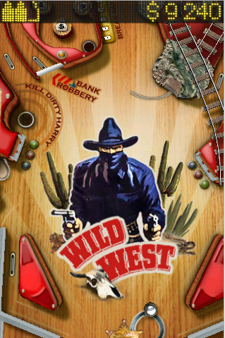 Il flipper per iPhone Wild West Pinball ora è gratis