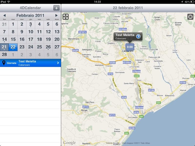 4DCalendar: il calendario diventa geolocalizzato