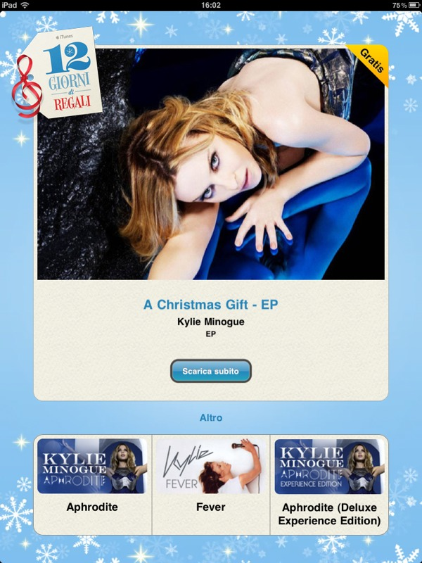 "In regalo per oggi, ""A Christmas gift"" di Kylie Minogue"