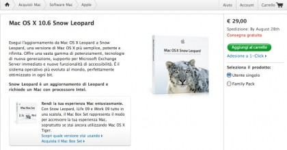 Snow Leopard pre-ordinabile via Apple Store