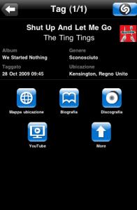 Schermata 2009 11 09 a 22.04.42 196x300 iPhone: Shazam ancora più avanzato (ed a pagamento) con Encore Twitter shazam iPod Touch iPhone Facebook Applicazioni App Store Aggiornamenti