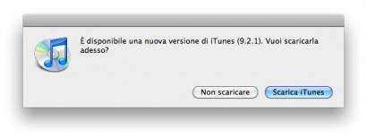 Disponibile l'aggiornamento per iTunes (v.9.2.1)