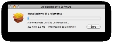 Aggiornamento Software: Apple Remote Desktop client v.3.3.2