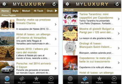 My Luxury su iPhone: il lusso sempre con te