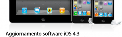 Apple rilascia ufficialmente la versione 4.3 di iOS