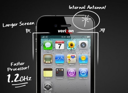 Rumor: per Verizon un iPhone con antenna interna e display più grande?