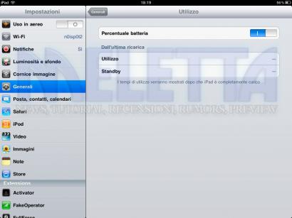 [Tutorial] Aggiungere le statistiche di utilizzo su iPad e iPod Touch