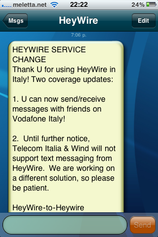 HeyWire bloccato da Tim e Wind