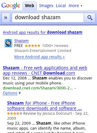 iPhone: Google Mobile ora ricerca anche le App