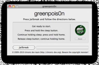 Greenp0ison RC4 rilasciato, ora compatibile con iPod Touch 2G