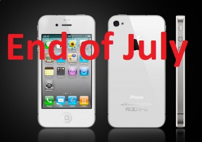 iPhone bianco disponibile a fine mese