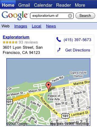 Risultati di ricerca su Google, ora ottimizzati per iPhone