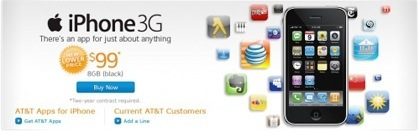 Il prezzo dell'iPhone 3G S secondo AT&T