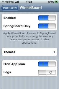 Cydia: Theme Settings, l'addon per Winterboard su fw 3.0