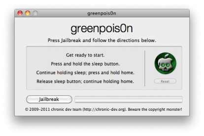 Jailbreak untethered per iOS 4.2.1 con greenpois0n (guida)