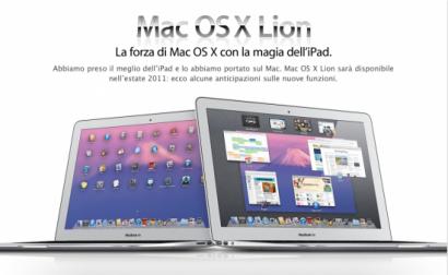 Apple rilascia la prima beta di OSX Lion agli sviluppatori