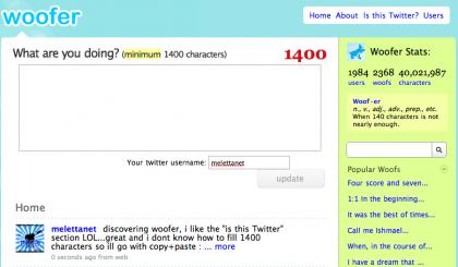 Arriva Woofer, l'anti-Twitter con 1400 caratteri