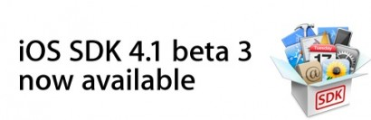 iPhone: rilasciato firmware 4.1 beta 3