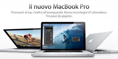 Disponibili i nuovi Macbook Pro