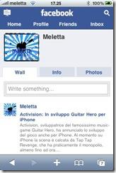Aggiornamento per Facebook Mobile su iPhone