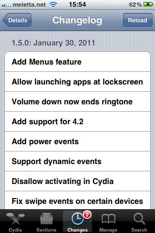 Cydia: aggiornamento per Activator (v.1.5)