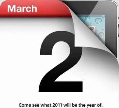 E' ufficiale: l'iPad 2 verrà presentato il 2 marzo