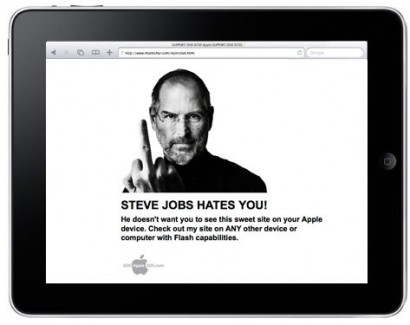 "Webdesigners protestano contro l'Apple ""anti-Flash"""